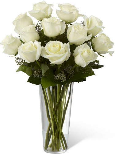 The FTD White Rose Bouquet from Richardson's Flowers in Medford, NJ