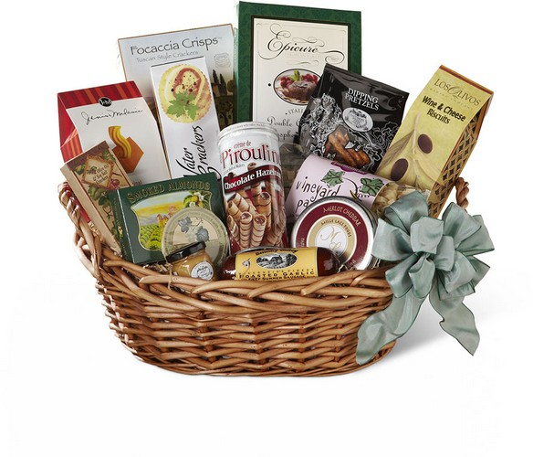 The FTD Warmth & Comfort Gourmet Basket from Richardson's Flowers in Medford, NJ