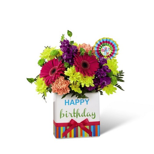 The FTD Birthday Brights Bouquet from Richardson's Flowers in Medford, NJ