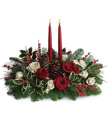 Christmas Wishes Centerpiece from Richardson's Flowers in Medford, NJ