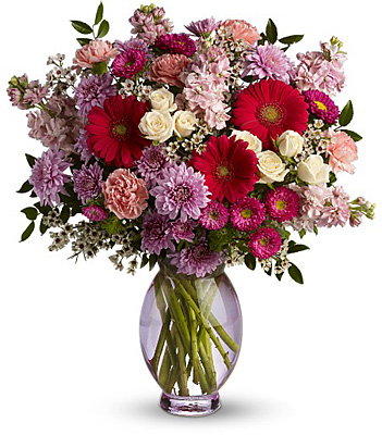 Teleflora's Perfectly Pleasing Pinks from Richardson's Flowers in Medford, NJ
