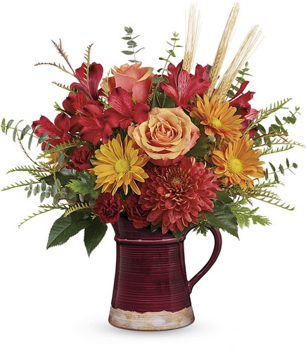 Teleflora's Fields Of Fall Bouquet from Richardson's Flowers in Medford, NJ