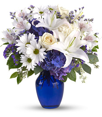 Beautiful in Blue from Richardson's Flowers in Medford, NJ
