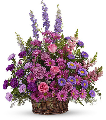 Gracious Lavender Basket from Richardson's Flowers in Medford, NJ