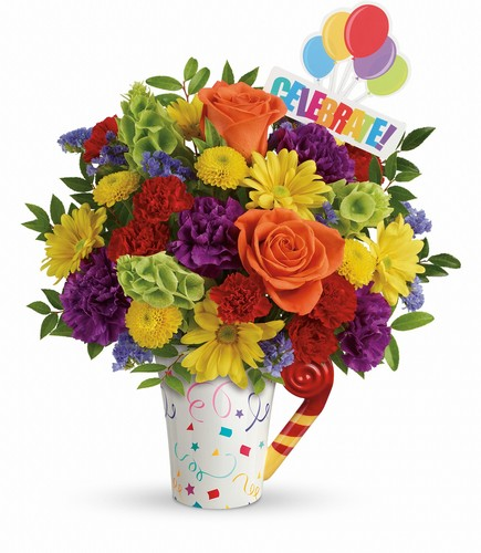 Teleflora's Celebrate You Bouquet from Richardson's Flowers in Medford, NJ