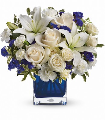 Teleflora's Sapphire Skies Bouquet from Richardson's Flowers in Medford, NJ