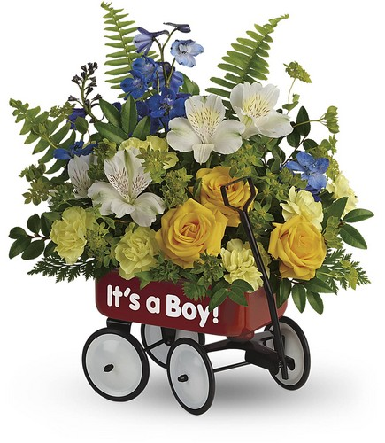 Teleflora's Sweet Little Wagon Bouquet from Richardson's Flowers in Medford, NJ