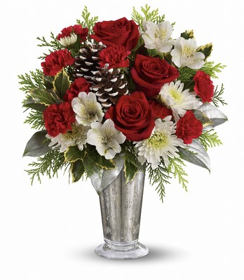 Teleflora's Timeless Cheer Bouquet from Richardson's Flowers in Medford, NJ